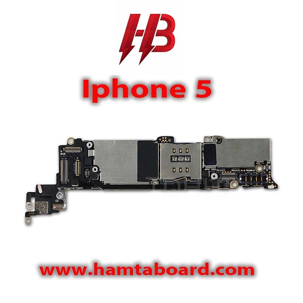 مادربرد آیفون ۵ با حجم ۱۶GB اصلی | IPHONE 5 16GB ORIGINAL BOARD LLA
